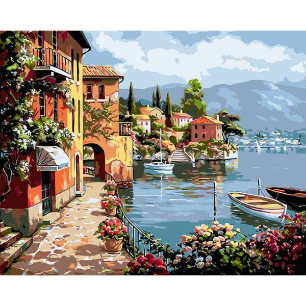 Erstaunliche Stadt am See