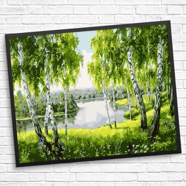 Erstaunlicher Fluss und Bäume