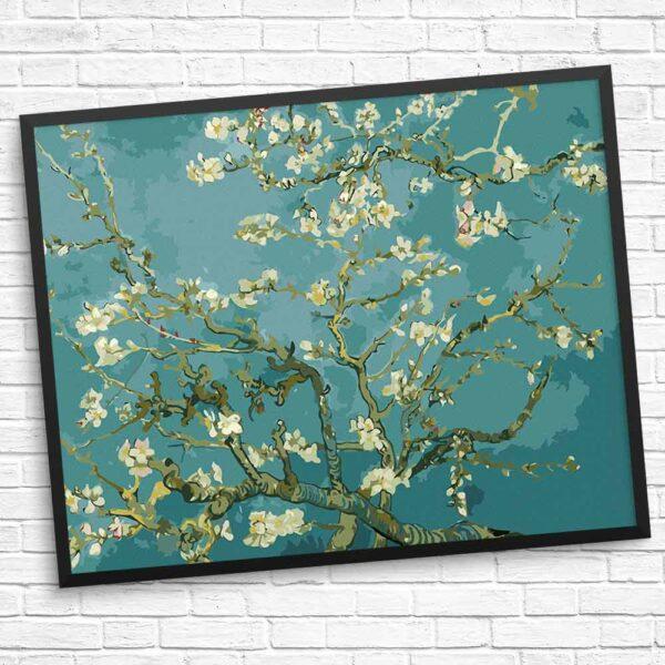 Schöne Blumen auf dem Baum Diamond Painting