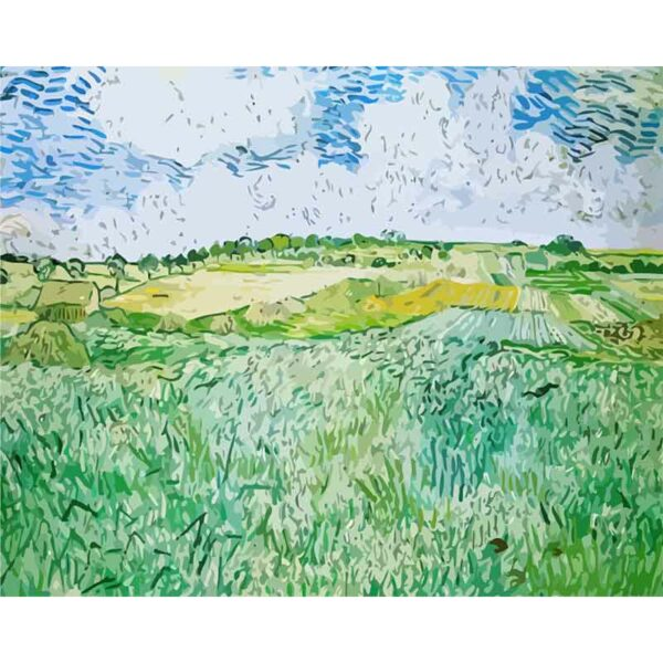Schöne grüne Felder
