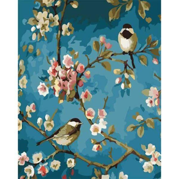 Vögel und Blumen