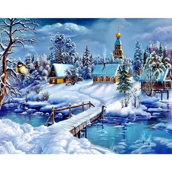 Kirche im Schneefall
