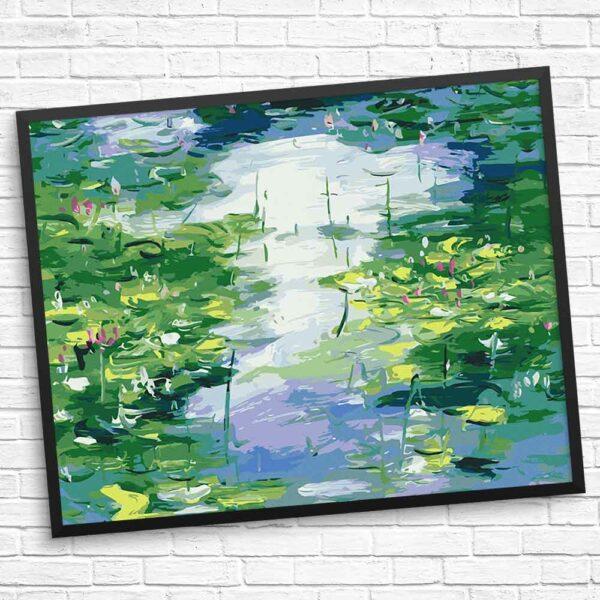 Schöne Blumen im Teich