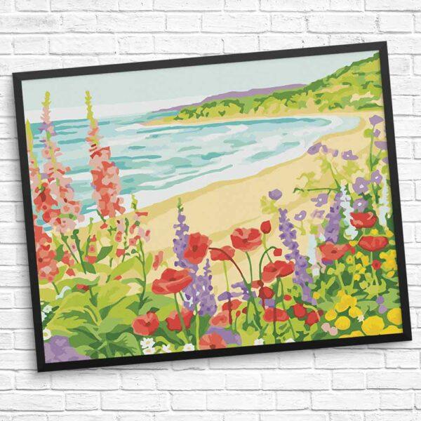 Blumen am Strand