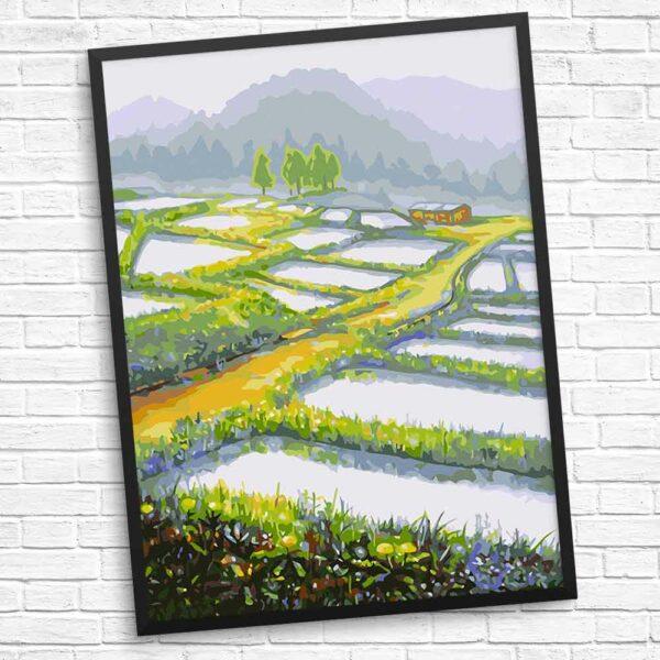 Haus in den schönen Feldern
