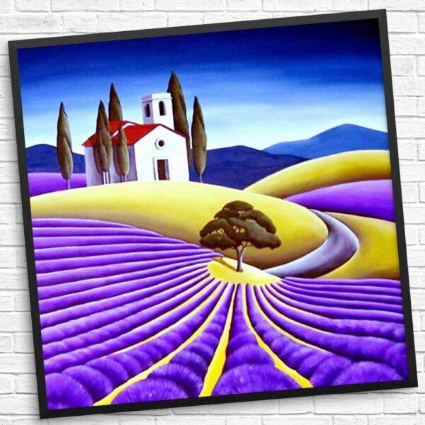 Haus auf den schönen Feldern