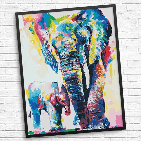 Liebe dich Mama Elefant