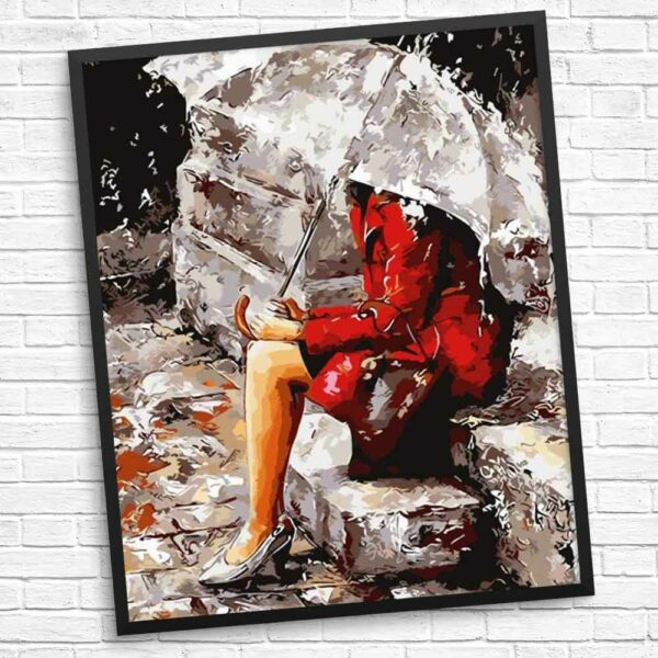 Nur in der Regen-Diamanten-Malerei