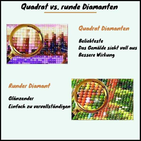 Quadrat-vs-runde-Diamanten