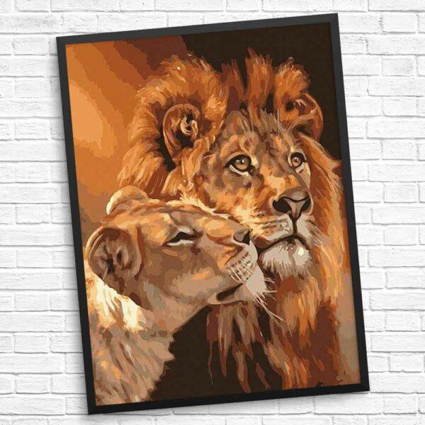 Etwas Liebe zeigen Löwe