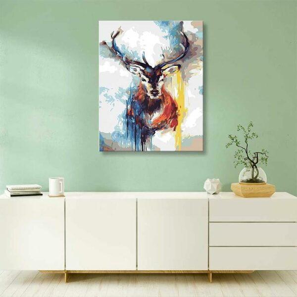 Abstrakter farbiger Hirsch