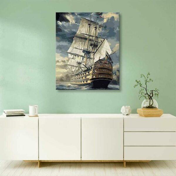Erstaunliches Segelboot