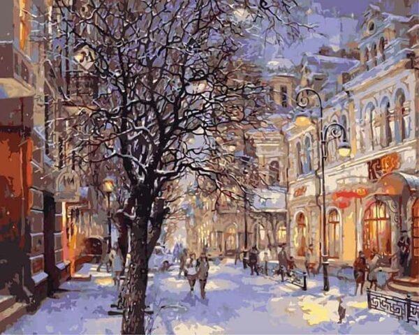 Schöne Straße in der Stadt