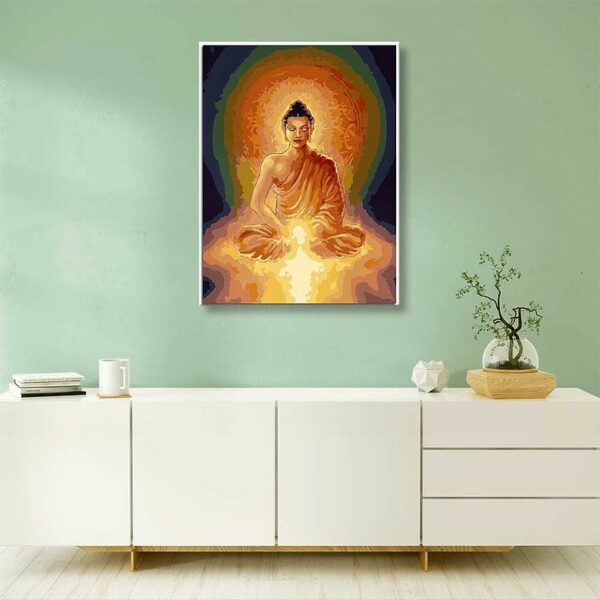 Buddha DIY Malen nach Zahlen für die Heim dekoration.