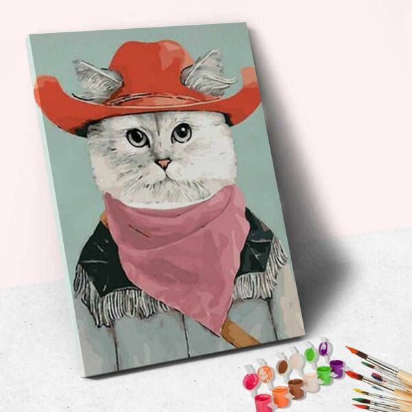 Katzen lady Portrait