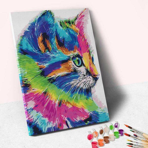 Farbige Katze