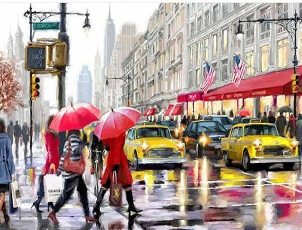Regen in New York