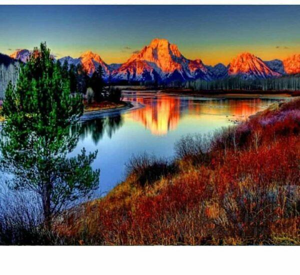 Blick auf die Schönen Berge