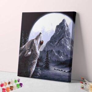 Wolf im Mondlicht
