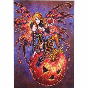 Schöne Hexe und Kürbis - Spezial geformt