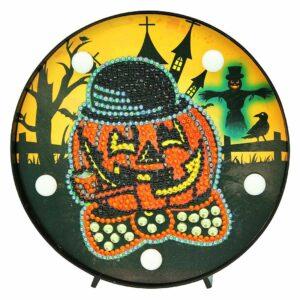 Der furchterregende Kürbis - Halloween-Nachtlampe